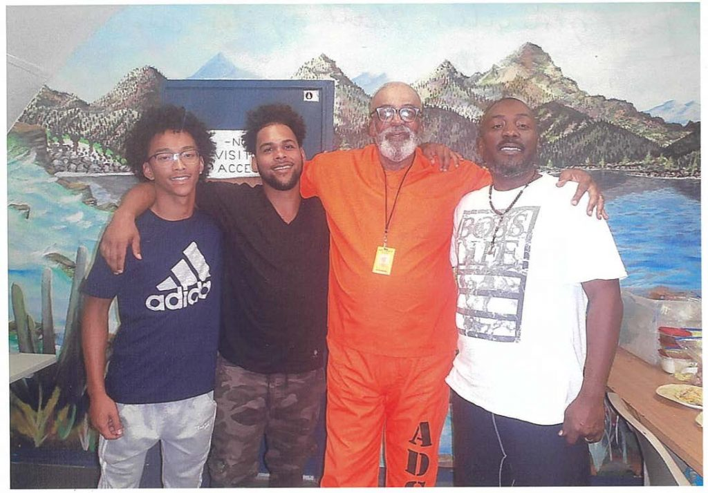 Doyle Williams and his grandsons at ASPC – Florence prison visitation room.